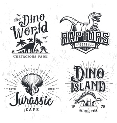 Dinosaur Logo Set Triceratops t-shirt vector