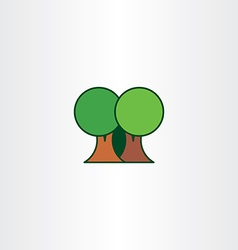 Eco trees flat icon element vector