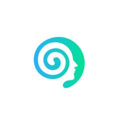 Head brain logo icon design vector