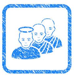 Holy men framed stamp vector
