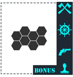 honeycomb icon flat vector image