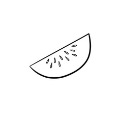 honeydew line icon vector image