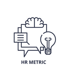 hr metric line icon concept hr metric vector image