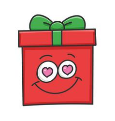 In love present christmas gift box cartoon vector