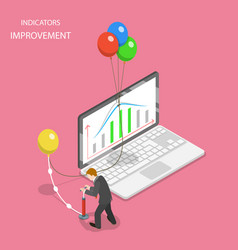 Indicators improvement isometric flat vector