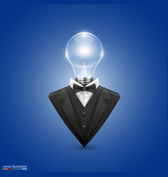 jacket with head lamps vector image