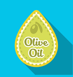 label of olive oilolives single icon in flat vector image