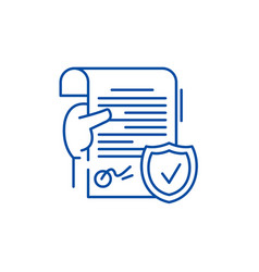 legal document line icon concept legal document vector image