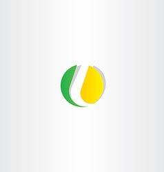 letter l yellow green circle symbol vector image