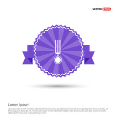 Medal icons - purple ribbon banner vector