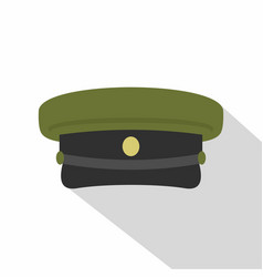 Military hat icon flat style vector