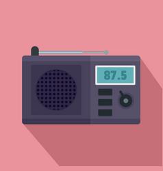 modern radio icon flat style vector image