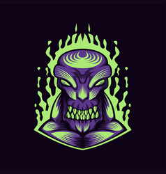 monster purple vector image