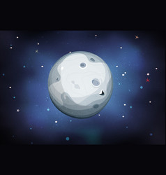 Moon planet on space background vector
