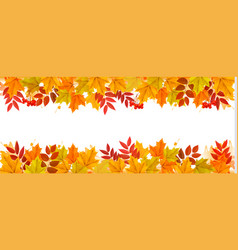 Nature autumn frame vector
