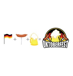 Oktoberfest logo Emblem Beer Festival in Germany vector