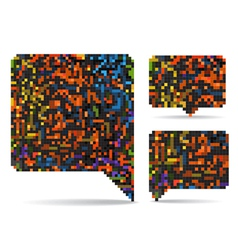 pixel speech clouds vector image