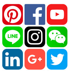 Popular social media icons vector