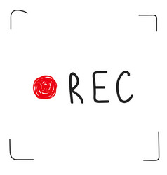 Rec camera circle vector