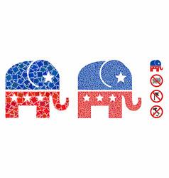 republican elephant mosaic icon tuberous parts vector image
