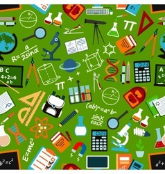 School education and science seamless pattern vector