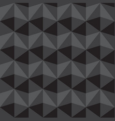 seamless abstract gray and black triangle pattern vector image
