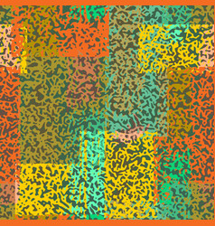 Seamless chaotic pattern autumn camouflage texture vector