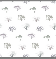 seamless trees pattern vector image