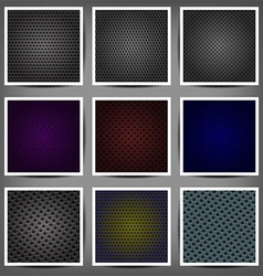 set of metal backgrounds vector image