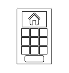 Smart House Home and technology vector