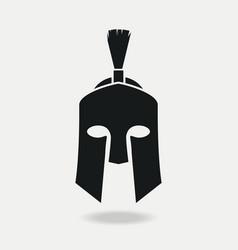 spartan helmet icon front vector image