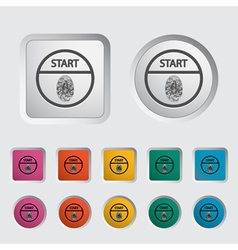 Start stop button vector