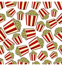 Sweet popcorn seamless pattern background vector