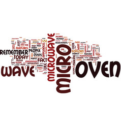 The microwave oven text background word cloud vector