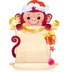 The Red Fire Monkey - symbol of the new 2016 year vector