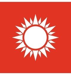 The sunshine icon sunrise and sunshine weather vector