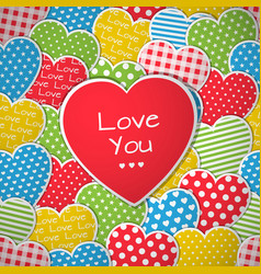 this is a seamless pattern with hearts vector image