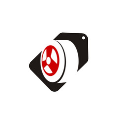 Tire sale logo design template vector