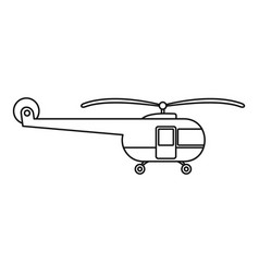 Transport helicopter icon outline style vector