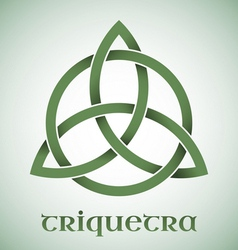Triquetra symbol with gradients vector image