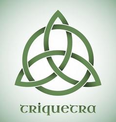 Triquetra symbol with gradients vector