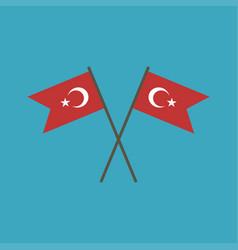Turkey flag icon in flat design vector