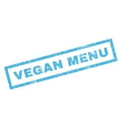 Vegan Menu Rubber Stamp vector