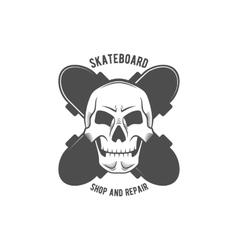 Vintage biking and skating badge logotype vector
