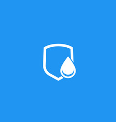 Waterproicon with water drop and shield vector