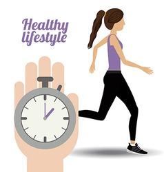 Healty Lifestyle design vector image