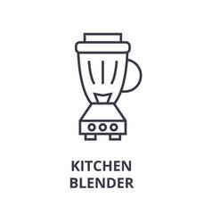 kitchen blender line icon outline sign linear vector image