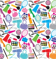 make up collection pattern vector image vector image