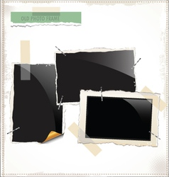 Old Photo frames vector image