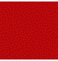 Seamless pattern with red hearts background vector image